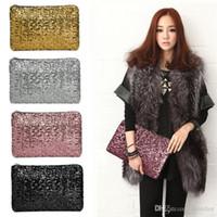 göz kamaştırıcı parıltı toptan satış-2018 Yeni Moda Göz Kamaştırıcı Glitter Köpüklü Bling Sequins Akşam Parti çanta Çanta Çanta Kadın Debriyaj cüzdan