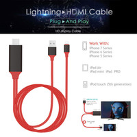 Wholesale hdtv adapter ipad - AHHROOU PLUG & PLAY Cable For Lightning to HDMI HDTV TV Adapter USB Cable 1080P For iPad Air Air2 iPhone 8 7 7 Plus 6S 6 5 5S