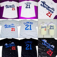 Wholesale clemente baseball jersey black resale online - Roberto CLEMENTE Santurce Crabbers Puerto Rico Jersey Stitched Custom Baseball Jerseys Any Name Number