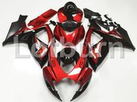 motocicletas gsxr plásticos venda por atacado-Alta Qualidade Plástico ABS Apto Para Suzuki GSXR GSX-R 600 750 GSXR600 GSXR750 2007 2007 K6 06 07 Moto Custom Made Motocicleta Carenagem Kit A75