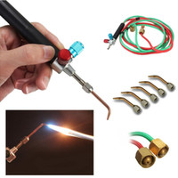 Wholesale mini soldering torch - MINI SMITH TORCH SOLDERING SMITH EQUIPMENT GOLD WELDING TORCH GOLDSMITH EQUIPMENT FOR JEWELRY TOOLS WITH 5 TIPS FREE SHIPPING
