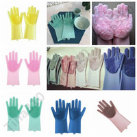 Wholesale bedding care for sale - Group buy 2pcs pair Magic Silicone Dish Washing Gloves Eco Friendly Scrubber Cleaning For Multipurpose Kitchen Bed Bathroom Hair Care pair T1I949