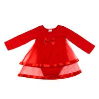 vestidos de arco infantil al por mayor-NewBorn Baby Dress Summer Cotton Bow Mamelucos del bebé Para niñas Verano Niños Ropa Infantil Bebé Niñas Mono de manga completa