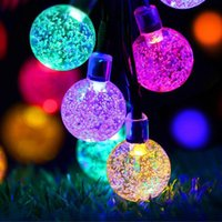 LED Solar Light String, Flashing Color Solar Bubble Ball String Lights  Decoration For Garden View Garden Decoration