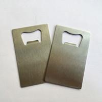 personalisierte kreditkarten großhandel-Mode personalisierte Kreditkarte Größe Bier Flaschenöffner Custom Company Logo Gravierte gedruckte Metall-Visitenkarte Flaschenöffner