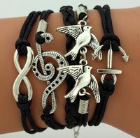 Wholesale Leather Bracelet Manufacturers - Manufacturers of creative jewelry explosion models supply Europe and the United States big friendship multi-woven bracelet hand rope jewelry