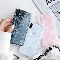 lustige fälle großhandel-Mode Conch Shell Telefon Fall für iphone 6 s case für apple iphone x 6 7 8 plus rückseitige abdeckung luxus schöne cases lustige coque