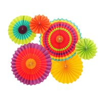 Wholesale wheel fan for sale - Group buy New Design Set Colorful Wheel Tissue Paper Fans Flowers Balls Lanterns Party Decor Craft For Birthday Party Wedding Decoration