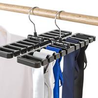 ingrosso plastica multi gancio di legame-Nuovo arrivo Plastic Belt Belt Scarf Rack Organizer Closet Armadio salvaspazio gancio per cintura con gancio in metallo Spedizione gratuita