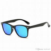 Wholesale Vintage Sunglasses Cheap - Fashion Sunglasses Cat Eye Vintage 50mm Unisex Brand Sun Glasses Bands Cool Men Women Mirror Designer glass Lenses with cases cheap sale