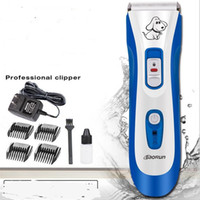 Wholesale pet grooming scissors kit resale online - washable electric pet grooming hair trimmer shaver ceramic razor cutting dog clipper teddy fur haircut cat shear scissor groomer comb