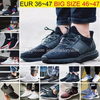 Wholesale Running Spring Shoes - Big Size Ultra Boost 2.0 3.0 4.0 UltraBoost mens running shoes sneakers women Sport Tri-Color NMD R2 CNY Snowflake Core Triple Black White