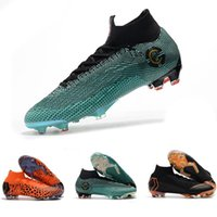 Wholesale free mercurial superfly online - Cheap Mens Football Boots Kids Mercurial Superfly VI Elite FG Soccer Shoes Boots Youth Women Outdoor Soccer Cleats