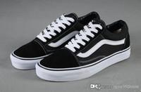 e marcas venda por atacado-Sapatilhas da marca Para As Mulheres Dos Homens de Skate Cut Low Sapatilhas Ocasionais Sapatos de Lona Velha Skool Clássico 36-44