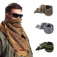 arab scarf venda por atacado-Homens Cachecóis Shemagh Árabe Tático Deserto Exército Shemagh KeffIyeh Cachecol