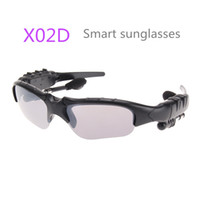 Wholesale electronic sunglasses - X02D HBS Smart Sunglasses Wireless Polarized Eyewear Headset Bluetooth Headphones For Android huawei IOS iphone Smart Electronics