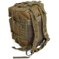 ingrosso il sacchetto pack pack campeggio esterno-JHD 34L Tactical Assault Pack Zaino dell'esercito Molle impermeabile Bug Out Bag Piccolo zaino per escursioni all'aperto Caccia campeggio (Kha