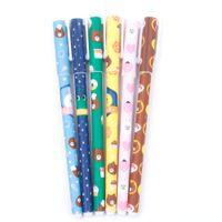 студийная ручка оптовых-6 Pcs / Set Color Gel Pen Starry Pattern Cute Animal Roller Ball Pens Stationery Office School Supplies Student Award Gifts