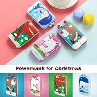 батарея чести оптовых-Рождество 5500mAh Unicorn Power Bank зарядное устройство батареи банка Deer грелка руки Подарок для iPhone 7plus Honor Xiaomi