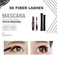 nueva máscara de pestañas de fibra 3d al por mayor-Hot New 1030 FIBRA 3D LASHES Plus MASCARA Set Maquillaje pestañas pestañas doble máscara Envío gratis
