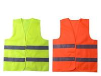 ropa de trabajo de seguridad al por mayor-Nueva Alta Visibilidad Trabajo de Seguridad Chaleco de Construcción Advertencia Tráfico Reflectante trabajo chaleco Verde Reflectante Ropa de Seguridad 50 unids