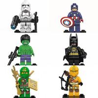 Wholesale Batman Superman Toy - Classic Action Figures Building Block Super Heroes Avengers Marvel Character Batman Superman Logan Minifigures Toy Bricks 2 1xf YY