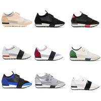 nuevos zapatos de corte alto al por mayor-2018 nuevo diseñador zapatilla hombre mujer corredor zapatos de alta calidad de corte bajo transpirable malla zapatilla de deporte al aire libre zapatos casuales US5-11.5