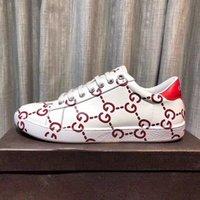 zapatos de marca de moda al por mayor-Hombres zapatos de cuero real Marca de moda Zapatos casuales Hombre Recuperación clásica Zapatillas de deporte con cordones de marca de alta calidad con caja 38-46
