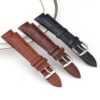 pulseira de couro de 12 mm venda por atacado-Pulseira De Couro Genuíno Pulseira Watchstraps 10mm 12mm 14mm 16mm 18mm 20mm 22mm 24mm Relógio de Pulso Banda Sports Watch Straps