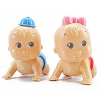 Wholesale Baby Best Sellers - Best Sellers Originality Cartoon Emulation Crawling Baby On The Chain Children Lovely Puzzle Wind Up Toys 1 3lh W
