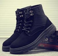 ingrosso stivali di stile militare-stivali da uomo in pelle stile autunno militare per gli uomini stivali tattici desertici scarpe da uomo stivali da combattimento caviglia canvas zx257