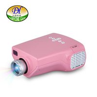 Wholesale Projector Pink - Everyone Gain Mini20 Mini Projector LED Projektor Toys Portable Video Projectors Beamer led Pink Pico Projecteur for Children