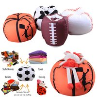 Wholesale fabric for plush toys - Baseball Basketball Football Softball Storage Bags For Kids Baby Play Plush Stuffed Toys Home Blanket Towel Dress Up Organization WX9-549