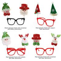 frames dos vidros dos desenhos animados dos miúdos venda por atacado-10 PÇS / LOTE Moda Infantil Óculos Crianças Adulto Inovador Óculos de Armação Presentes de Natal Dos Desenhos Animados com Boneco de neve Papai Noel Xmas Decoração