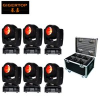 Wholesale Motor Works - 6in1 Flightcase Pack 60W Led Beam Moving Head Light Mini Small Size Silent Working Motor 75W Power Consumption O-R-S-AM 4IN1 LED