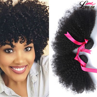 kızılderililer boyalı toptan satış-Fabrika 7A Brezilyalı Perulu Malezya Hint İnsan Saç Paketler Ucuz Virgin İnsan Afro Saç Uzatma Doğal Renk Boyalı olabilir 4 Demetleri