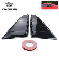 Wholesale mustang covers - PQY - Sand Sprayed Or Specular Side Window Quarter Scoop Louver Cover For Ford Mustang 2015-17 GT PQY-WLS02