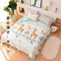 Wholesale silk quilt comforter - Summer Quilt Japan Jacquard Luxury Bedding Sets Queen King Size Bed Set Silk Lace Blankets Home Textile Beach Towel Comforter Sets