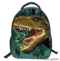 kindergartenrucksäcke großhandel-14-Zoll-Student wasserdicht Cartoon Dinosaurier Muster Kindergarten Rucksack