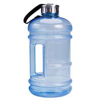ingrosso grandi bottiglie di plastica-2018 più nuovo portatile caldo 2.2L BPA libero di plastica grande grande capacità palestra sport bottiglia d'acqua picnic all'aperto campeggio ciclismo bollitore