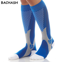 Wholesale knee high hoses for sale - Group buy Bachash Mmhg Graduated Compression Socks Firm Pressure Circulation Quality Knee High Orthopedic Support Stocking Hose Sock