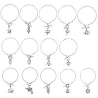 Wholesale wholesale locket bracelet - Elegant Women Pearl Oyster Charm Bracelets Fashion Silver star frog owl Pearl Cage Pendant Locket Bracelet Jewelry charm 162400