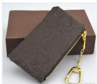 Wholesale Designer Goods - Special price! KEY POUCH Damier leather holds high quality famous classical designer women key holder coin purse small leather goods bag