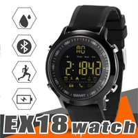 Wholesale Orange Sms Email - EX18 Smart Watch Sport Smartwatch Pedometer Bluetooth Wristwatch Activity Tracker IP67 Waterproof Support Call and SMS alert for IOS Android