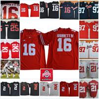 Wholesale Black J - Mens Ohio State Buckeyes J.T. Barrett IV College Football Jerseys Parris Campbell JR. J. K. Dobbins Mike Weber Nick Bosa Buckeyes Jersey
