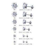 Wholesale pierced ears diamond studs for sale - Group buy 6pairs mm mm CZ Stud Earrings Sets Women Girls Shiny Round Diamond Piercing Ear Plugs Studs for Boys Men Teens Silver Black Wholesales