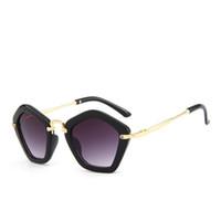 marken-sonnenbrillen für kinder großhandel-Modemarke Trendy Kinder Sonnenbrille Polygon Kinder Jungen Mädchen Sonnenbrille Sun Shades Baby Brille Brillen Brille
