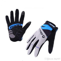 guantes de carretera al por mayor-Guantes de ciclismo al aire libre a prueba de choques al por mayor del invierno guantes llenos de nylon del camino de la bici del camino MTB deportes bicicleta Glovesb envío libre