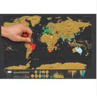 """Wholesale Scratching Map - 32.5"""" x 23.4"""" Personalized Black Scratch Off Art World Map Poster Decor Large Deluxe Poster Edition Travel"""