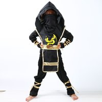 cadılar bayramı suikastçisi toptan satış-Japon tarzı Çocuklar Ninja Kostümleri Cadılar Bayramı Partisi Erkek Kız Savaşçı Stealth Çocuk Cosplay Assassin Kostüm çocuk Günü Hediyeleri 325